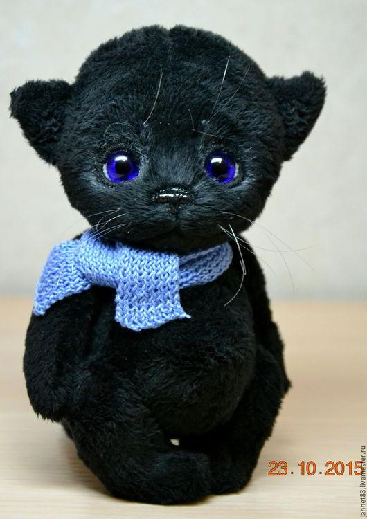 Мишки Тедди ручной работы. Ярмарка Мастеров - ручная работа. Купить Котик. Handmade. Черный, искусственный мех, вискоза 100%