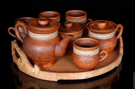 """Сервизы, чайные пары ручной работы. Ярмарка Мастеров - ручная работа. Купить Чайный набор """"Чародел"""" (бесплатная доставка). Handmade."""