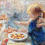 """Картины и панно ручной работы. Ярмарка Мастеров - ручная работа Картина """" Персиковый пирог"""".. Handmade."""