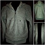 Одежда handmade. Livemaster - original item Associated from flax .Sweatshirt Style zip up hooded. Handmade.