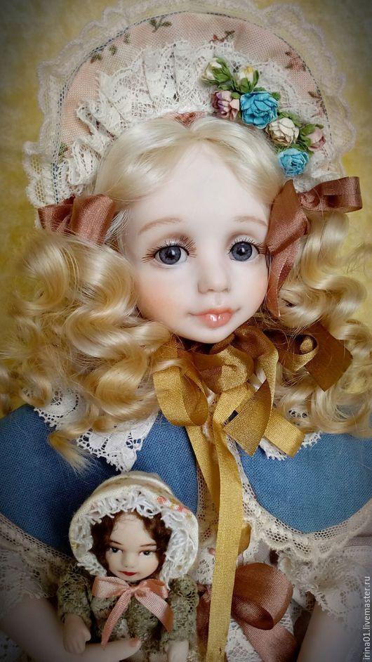 Коллекционные куклы ручной работы. Ярмарка Мастеров - ручная работа. Купить Ася.. Handmade. Голубой, кружево