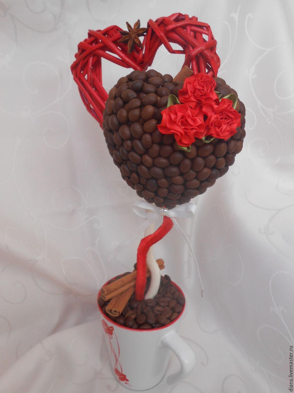 Сердца из кофейных зерен своими руками фото