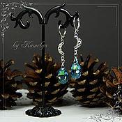 Украшения handmade. Livemaster - original item Drop earring with Swarovski crystals