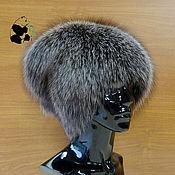 Аксессуары handmade. Livemaster - original item Zenskas fur hat fur silver Fox