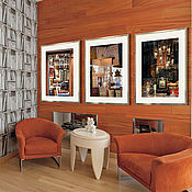 Картины и панно ручной работы. Ярмарка Мастеров - ручная работа Триптих фотокартины книги для интерьера гостиной - Париж в отражении. Handmade.