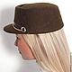 Шляпы ручной работы. Ярмарка Мастеров - ручная работа. Купить Шляпка Militaire. Handmade. Гламур, коричневый, шляпка, модный аксессуар