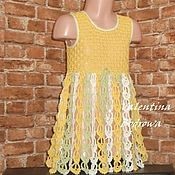 Одежда handmade. Livemaster - original item Openwork knitted dress for girls 3 years old.. Handmade.