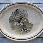Большая тарелка Royal Worcester, Palissy, серия Hunting Scenes
