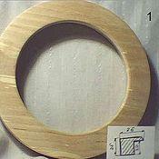 Материалы для творчества ручной работы. Ярмарка Мастеров - ручная работа рамка круглая деревянная берёзовая. Handmade.