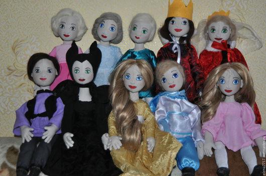 Кукольный театр ручной работы. Ярмарка Мастеров - ручная работа. Купить Набор кукол. Handmade. Комбинированный, голубой, серый, кожа