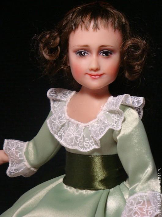 Коллекционные куклы ручной работы. Ярмарка Мастеров - ручная работа. Купить Екатерина II   Детство.. Handmade. Зеленый, атлас