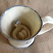 Посуда ручной работы. Ярмарка Мастеров - ручная работа чашечка с мальчиком. Handmade.