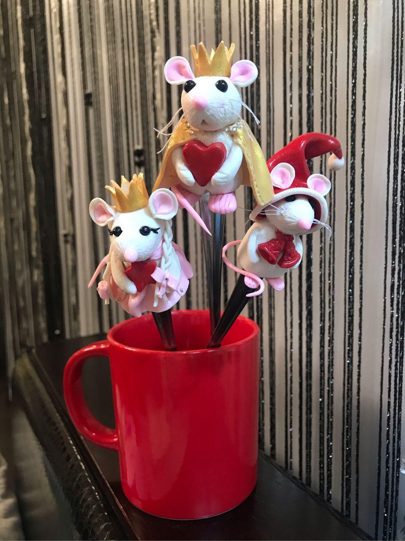 Мышка на десертной ложке. Символ Нового Года , Ложки, Челябинск,  Фото №1