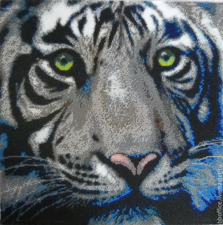 "бисером""Белый тигр""."