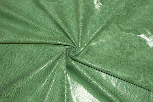 """Шитье ручной работы. Ярмарка Мастеров - ручная работа. Купить Натуральная замша """"Зеленая Чешуйка"""". Handmade. Кожа, лоскуты кожи"""