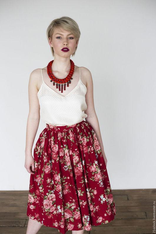 Юбка летняя, юбка цветы, юбка ретро, юбка розы, юбка красивая, юбка модная, юбка вечерняя, женская юбка, юбка хлопок, юбка милая, юбка красивая, юбка пышная, юбка на поясе, юбка в цветок, юбка-пачка