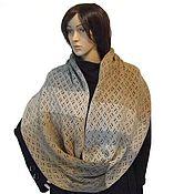 Аксессуары handmade. Livemaster - original item Snood knitted Beige-Grey. Handmade.