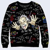 """Одежда ручной работы. Ярмарка Мастеров - ручная работа Свитшот """"Эйнштейн"""". Handmade."""