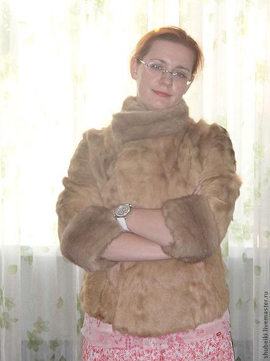 Верхняя одежда ручной работы. Ярмарка Мастеров - ручная работа. Купить Шуба из козлика с норкой. Handmade. Бежевый, козлик, шуба