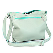 Сумки и аксессуары handmade. Livemaster - original item Mint bag with shoulder strap - Crossbody Mint. Handmade.