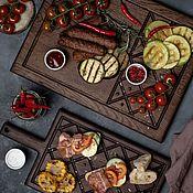 """Для дома и интерьера handmade. Livemaster - original item Набор для кухни из двух дубовых досок """"Лабиринт"""". Handmade."""