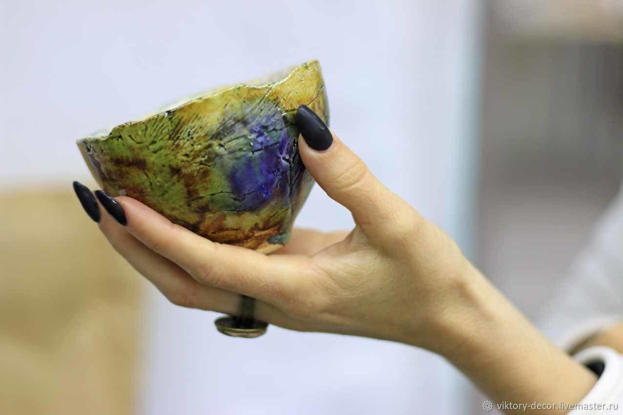 Пиала керамическая ручной работы  Травы, Пиалы, Москва,  Фото №1