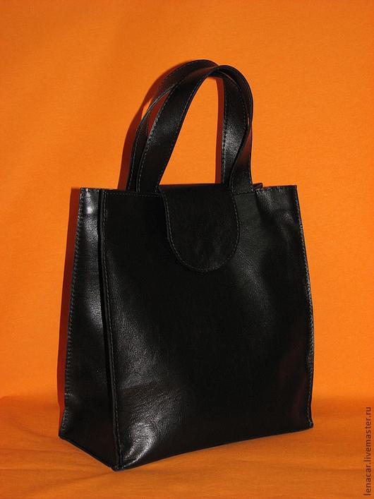 Женские сумки ручной работы. Ярмарка Мастеров - ручная работа. Купить Женская кожаная сумка 49. Handmade. Черный