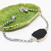 Украшения handmade. Livemaster - original item Bracelet Silver-black lake. Handmade.