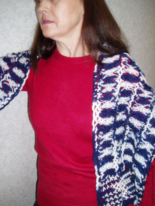 Шарфы и шарфики ручной работы. Ярмарка Мастеров - ручная работа. Купить шарф из мохера Морской. Handmade. Абстрактный, шарф вязаный