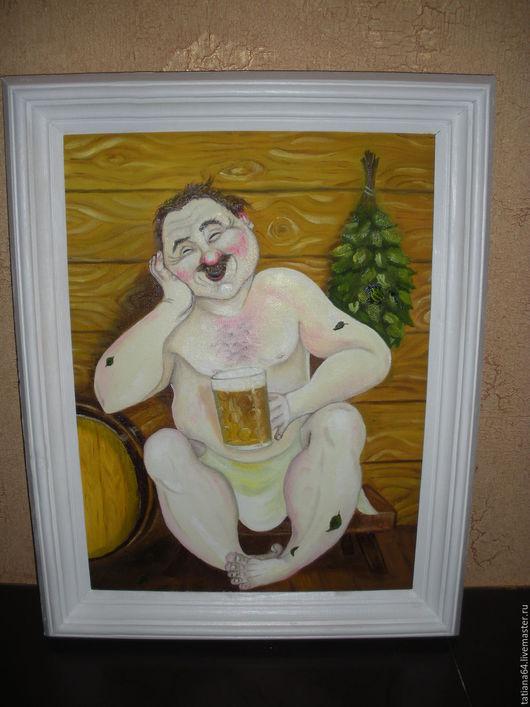 Пивная тема. Картина прекрасно подойдет для бани, впишется в интерьер гостиной. Прекрасный подарок мужчине. 2000 руб