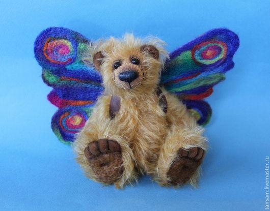 Мишки Тедди ручной работы. Ярмарка Мастеров - ручная работа. Купить Мишка Мотыльков. Handmade. Мишка, медведь, рыжий цвет