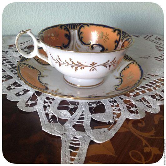 Винтажная посуда. Ярмарка Мастеров - ручная работа. Купить Английская редкая антикварная чайная пара. Handmade. Комбинированный, позолота