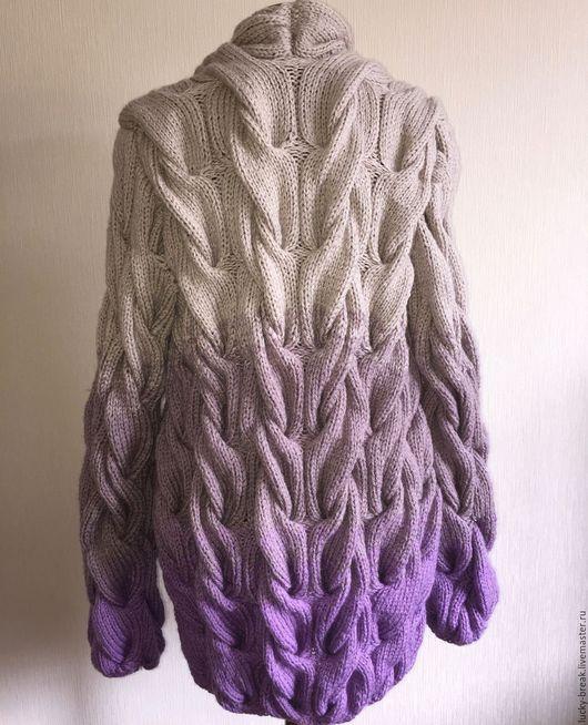 Кофты и свитера ручной работы. Ярмарка Мастеров - ручная работа. Купить Кардиган в стиле Лало. Handmade. Комбинированный, полушерсть, спицами
