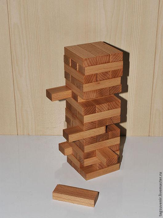 Развивающие игрушки ручной работы. Ярмарка Мастеров - ручная работа. Купить Игра-Башня ( Дженга ). Handmade. Бежевый