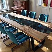 Столы ручной работы. Ярмарка Мастеров - ручная работа Стол в переговорную комнату из слэбов ценных пород.. Handmade.