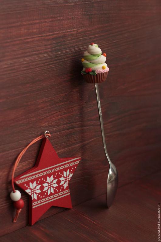 Ложки ручной работы. Ярмарка Мастеров - ручная работа. Купить Новогодняя ложечка. Handmade. Комбинированный, ложка ручной работы