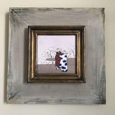 Картины и панно ручной работы. Ярмарка Мастеров - ручная работа Прогулка. Handmade.