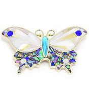 Украшения handmade. Livemaster - original item The Mosaic butterfly BROOCH. Turquoise, Lapis, Mother Of Pearl. Exclusive. Handmade.