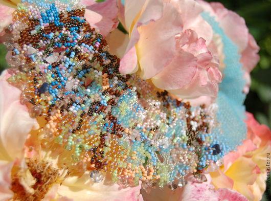 """Колье, бусы ручной работы. Ярмарка Мастеров - ручная работа. Купить Колье-фриформ""""Весенние сады Моне"""". Handmade. Разноцветный"""