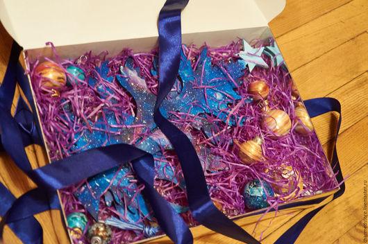 Новый год 2017 ручной работы. Ярмарка Мастеров - ручная работа. Купить Звездная Ёлочка - настольная новогодняя елочка смнабором шариков. Handmade.