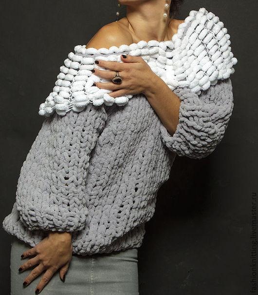 """Кофты и свитера ручной работы. Ярмарка Мастеров - ручная работа. Купить свитер """"Плюш"""". Handmade. Серый, кофта, плюш"""
