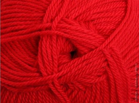 """Вязание ручной работы. Ярмарка Мастеров - ручная работа. Купить Пряжа для вязания,шерсть """"Традиционный красный"""",100g. Handmade."""