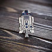 Украшения handmade. Livemaster - original item Wooden icon R2-D2. Handmade.