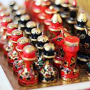 Сувениры и подарки ручной работы. Ярмарка Мастеров - ручная работа шахматы расписные Хохлома-яркая победа. Handmade.