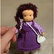 Вальдорфская игрушка ручной работы. Заказать Мини-куколка на каркасе, 13см. Мастерская Шью.Вяжу (@sew.knit). Ярмарка Мастеров.