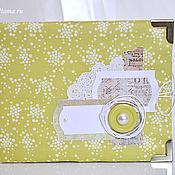Канцелярские товары ручной работы. Ярмарка Мастеров - ручная работа Мини-фотоальбом на заказ. Handmade.