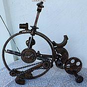 """Для дома и интерьера ручной работы. Ярмарка Мастеров - ручная работа Часы """"Механический велосипед"""". Handmade."""