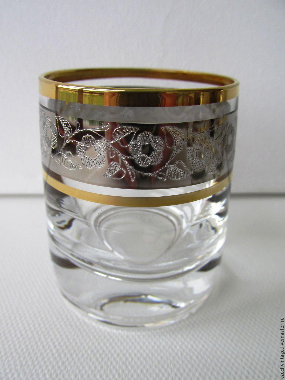 The STACK Set - 6 piece CZECH Republic BOHEMIAN GLASS new 60 ml, Vintage glasses, Prague,  Фото №1