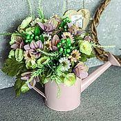 Лейки ручной работы. Ярмарка Мастеров - ручная работа Интерьерная композиция «Лейка с цветами»,цветы в лейке. Handmade.