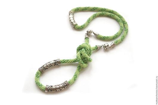Лариаты ручной работы. Ярмарка Мастеров - ручная работа. Купить Лариат зеленый. Handmade. Зеленый, украшение на шею